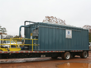 Oil based mud cooling systems trailer